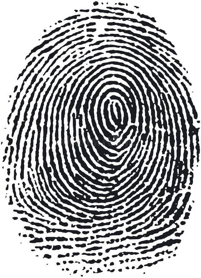 Fingerabdruck (16) lizenzfreie abbildung