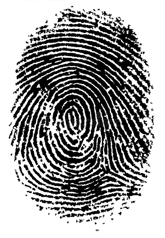 Fingerabdruck 2 stock abbildung