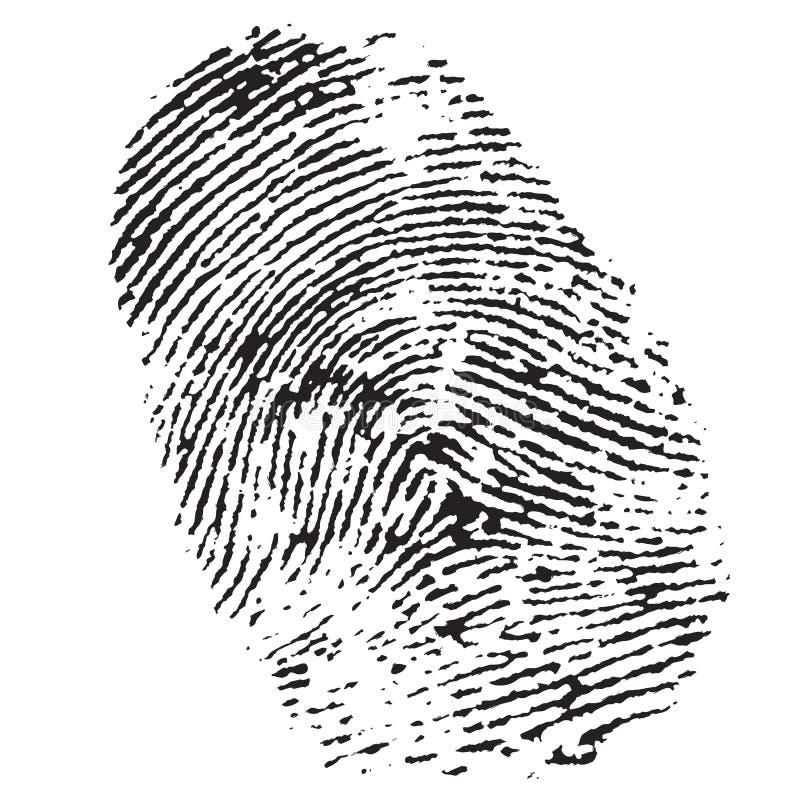 Fingerabdruck vektor abbildung