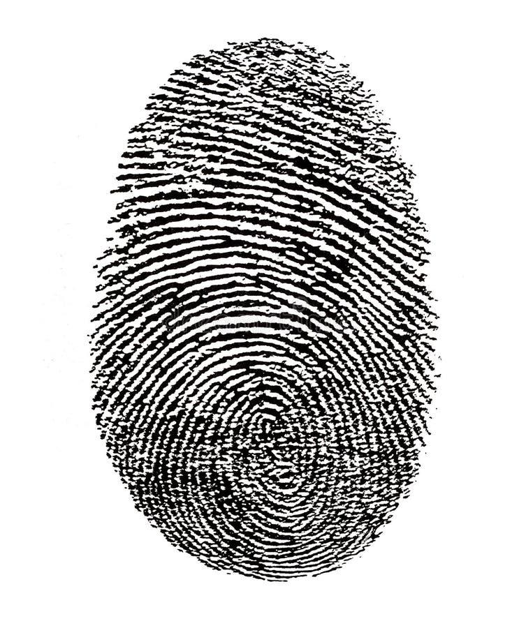 Fingerabdruck stockbild