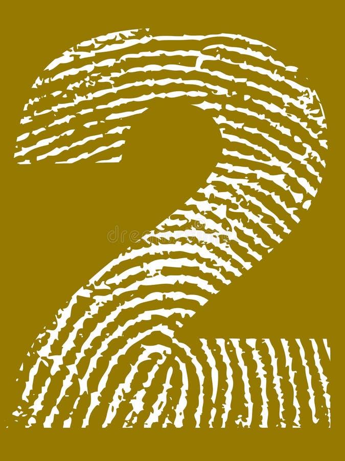 Fingerabdruck-Alphabet - Nr. 2 lizenzfreie abbildung