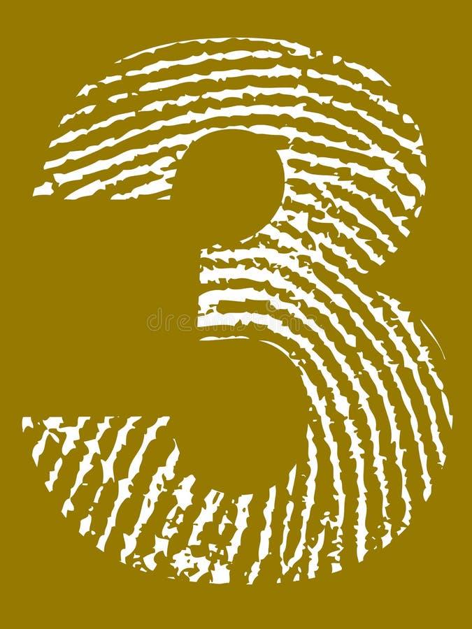 Fingerabdruck-Alphabet - Nr. 3 vektor abbildung