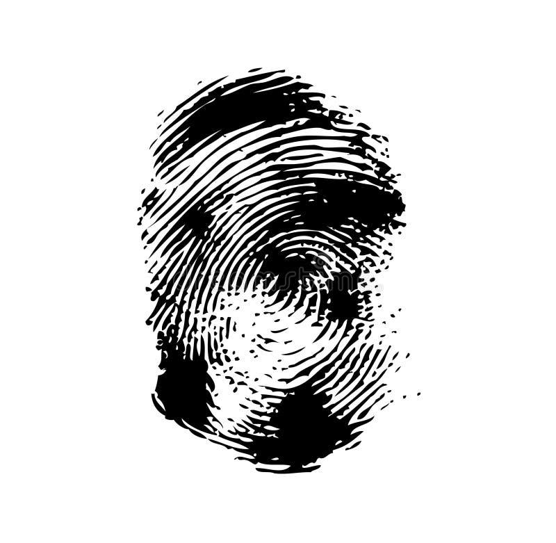 Fingerabdruck auf einem weißen Hintergrund vektor abbildung