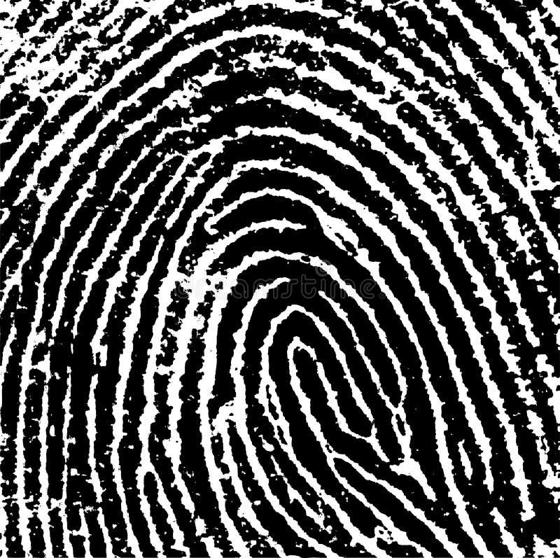 Fingerabdruck-Getreide 8 stock abbildung