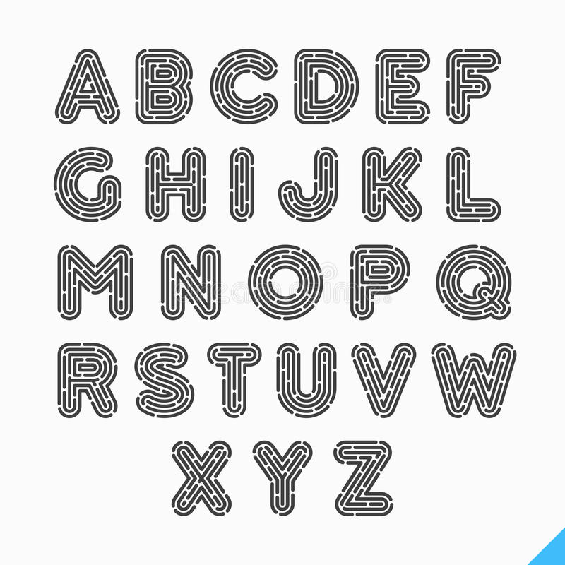Fingerabdruckalphabetbuchstaben stock abbildung