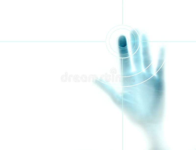 Fingerabdruckscan lizenzfreie stockfotos
