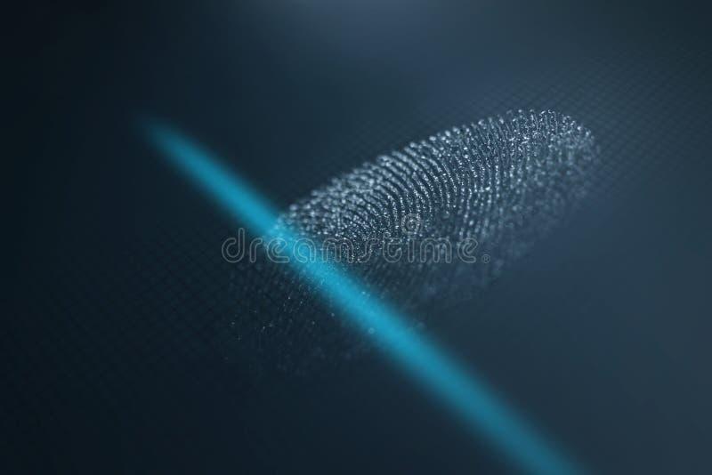 Fingerabdruckscanner lizenzfreie stockbilder