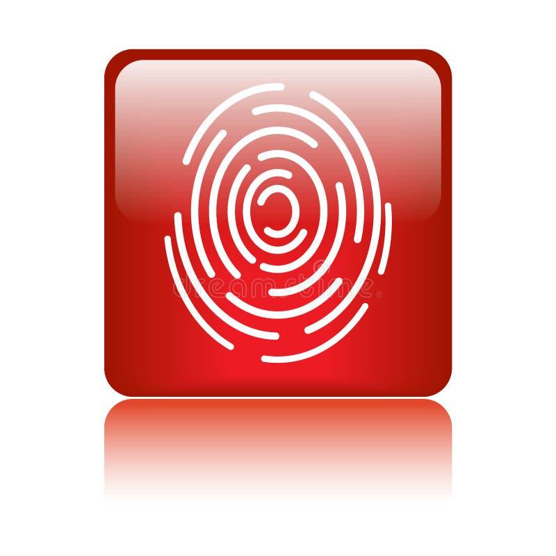 Fingerabdruckzeichenikone lizenzfreie abbildung