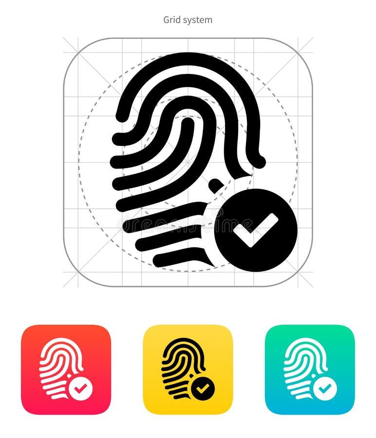 Fingeravtryck accepterad symbol. stock illustrationer