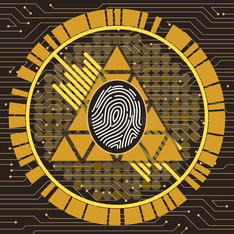 Fingeravtryck Art Illustration royaltyfri bild