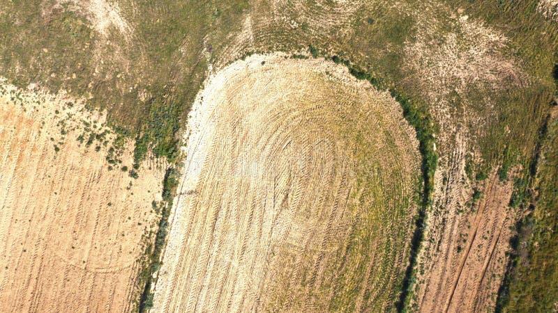 Fingeravtryck av jorden som ses från ett surr royaltyfri foto