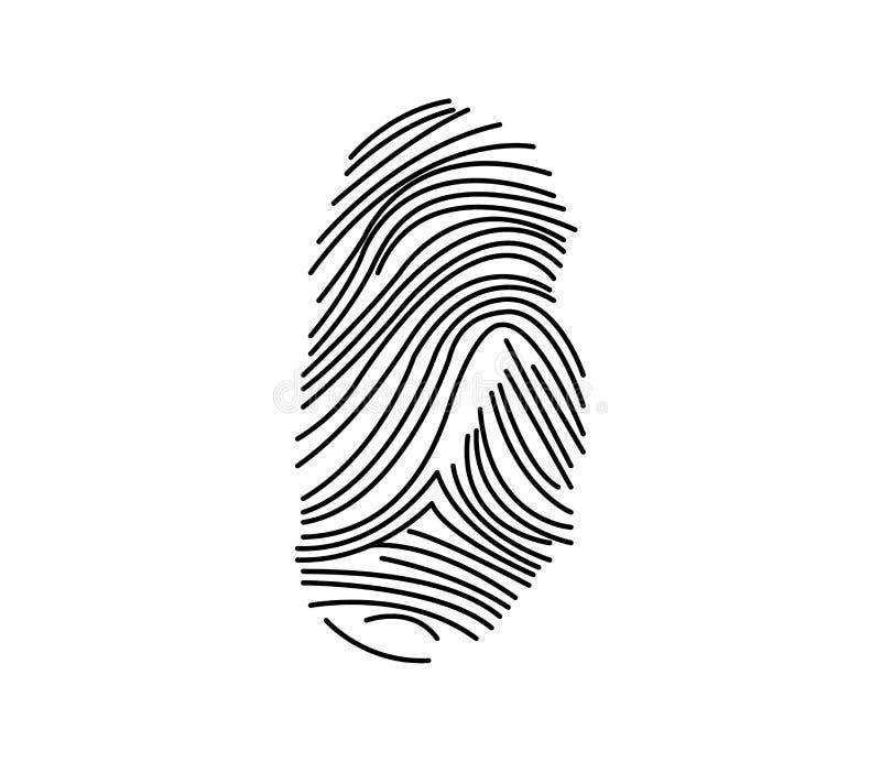 Fingeravtryck som isoleras på vit bakgrund royaltyfri illustrationer