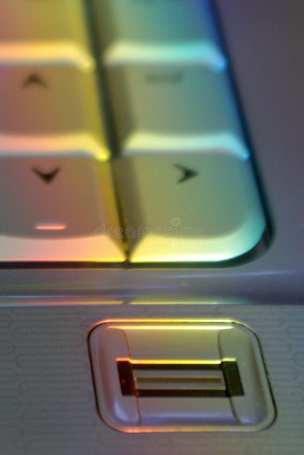 fingeravtryckavläsare royaltyfri bild