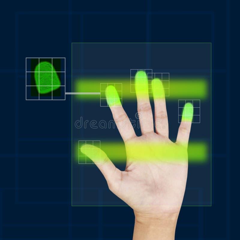 fingeravtryckbildläsare royaltyfri bild