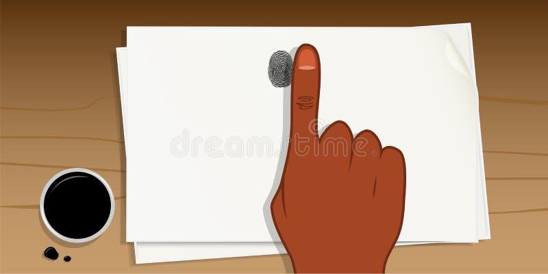 Fingeravtryckfärgpulver stock illustrationer