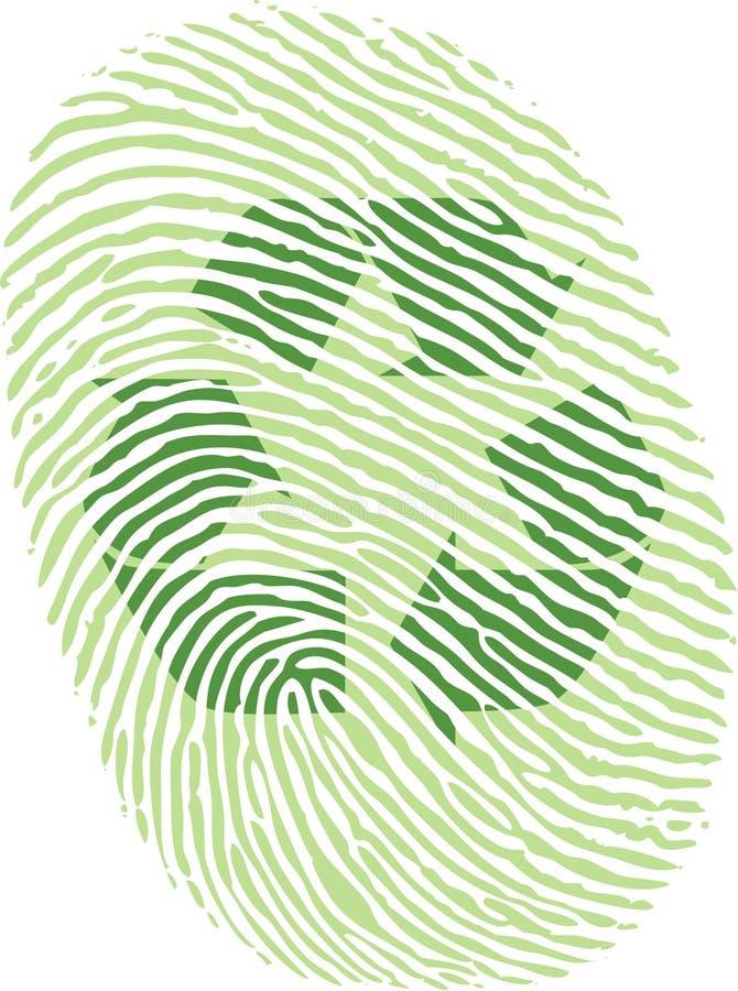 fingeravtryckgreen återanvänder royaltyfri foto