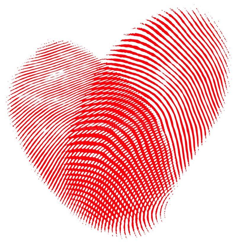 fingeravtryckhjärta vektor illustrationer