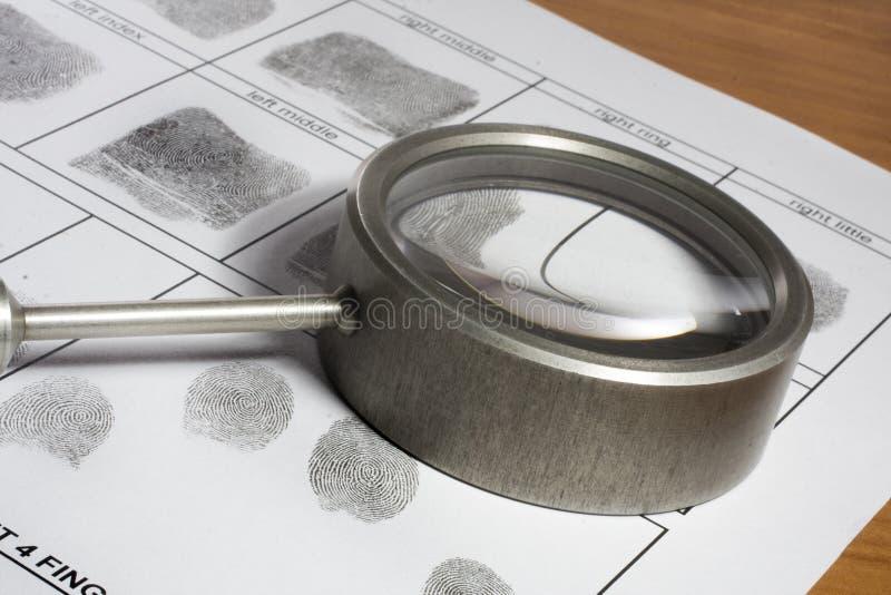 Fingeravtryckkort royaltyfria bilder