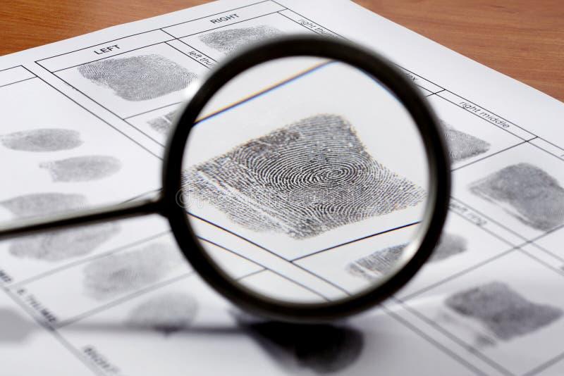 Fingeravtryckkort arkivfoto