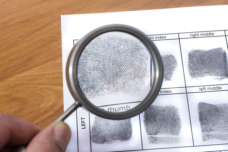 Fingeravtryckkort arkivbild