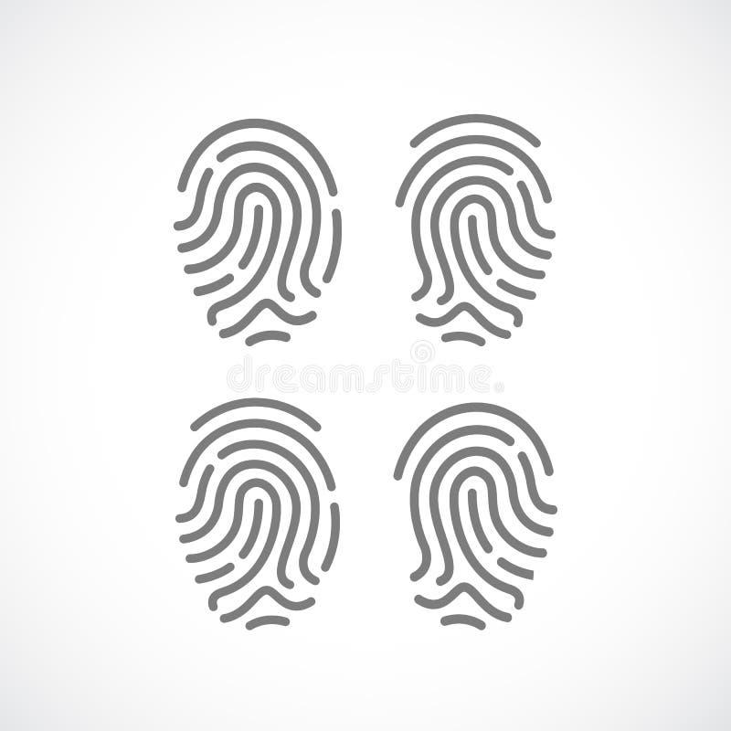 Fingeravtryckvektorsymbol royaltyfri illustrationer