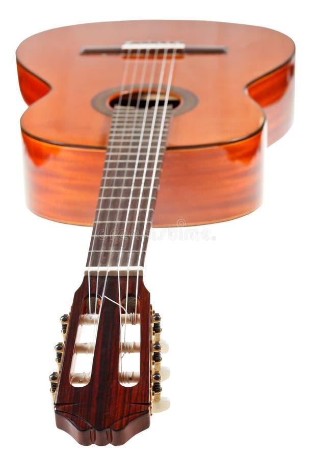 Fingerboard της κλασσικής ακουστικής κιθάρας στοκ φωτογραφία με δικαίωμα ελεύθερης χρήσης