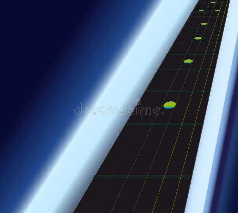Fingerboard электрической гитары чёрного дерева как голубая светлая предпосылка бесплатная иллюстрация