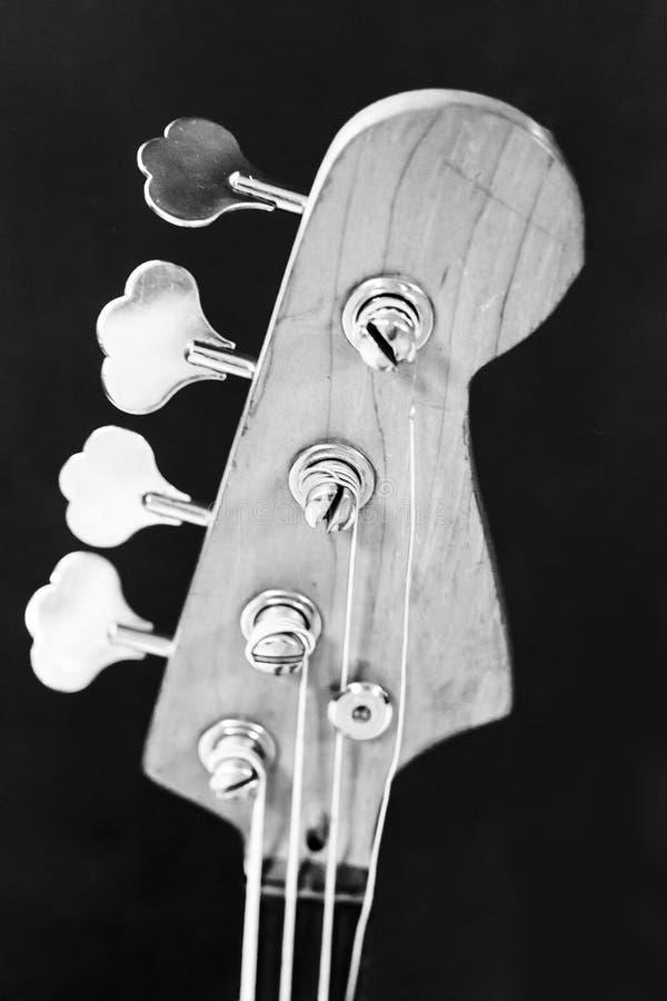 Fingerboard gitary czarny i biały fotografia fotografia royalty free