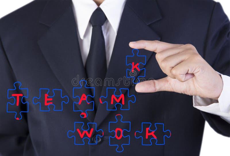 Fingergeschäftsmannholding stockbilder