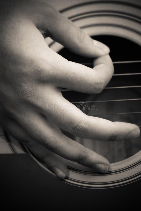 fingergitarrval royaltyfria bilder
