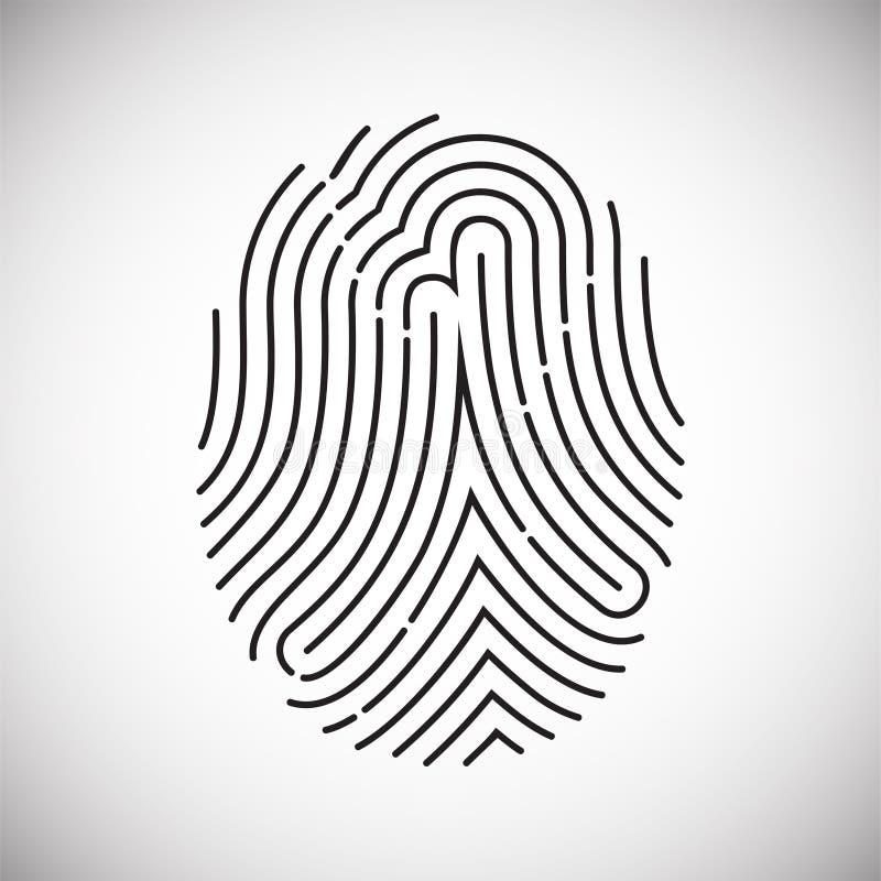 FingerID-symbol på vit bakgrund för diagrammet och rengöringsdukdesignen, modernt enkelt vektortecken för färgbegrepp för bakgrun stock illustrationer