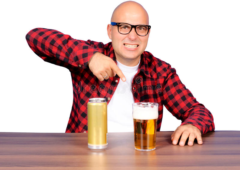 Fingering The Beer Stock Images