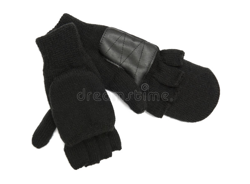 Fingerless gloves. Isolated on the white background royalty free stock image