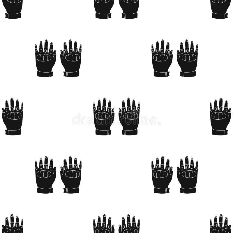 Fingerless rękawiczki ikona w czerń stylu odizolowywającym na białym tle Paintball symbolu zapasu wektoru ilustracja ilustracja wektor