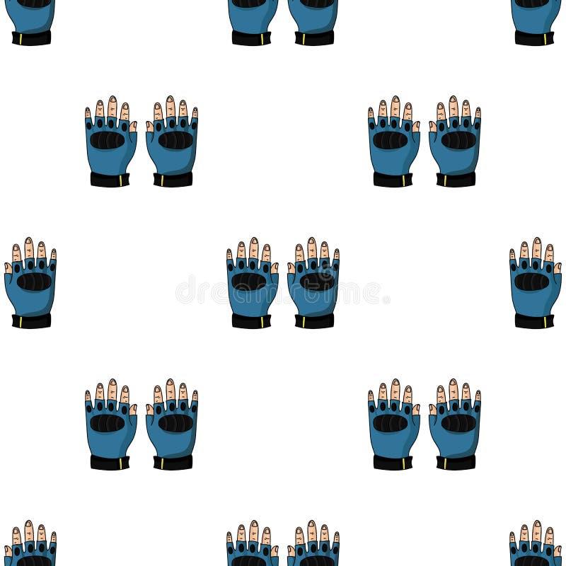 Fingerless rękawiczki ikona w kreskówka stylu odizolowywającym na białym tle Paintball symbolu zapasu wektoru ilustracja royalty ilustracja