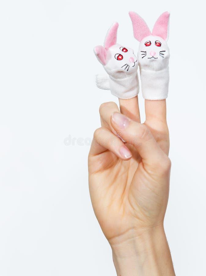 Fingermarionetten lizenzfreie stockbilder