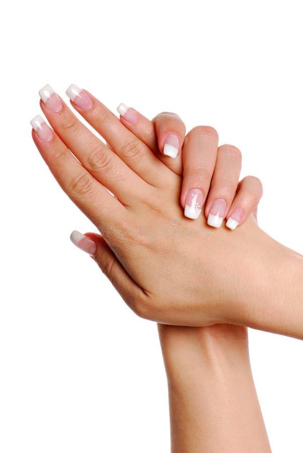 fingernail arkivbild
