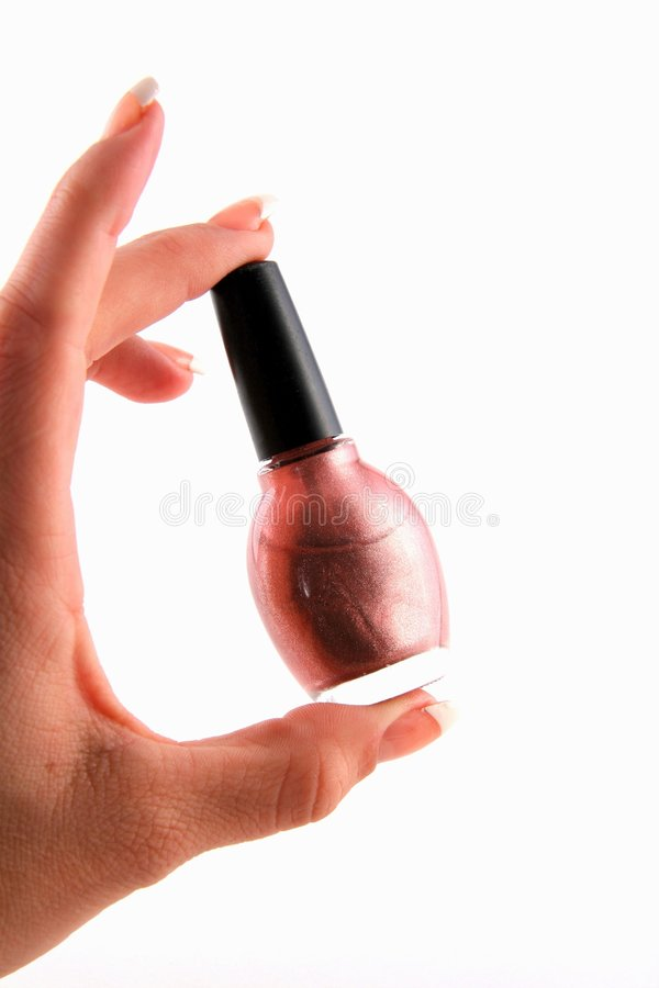 Fingernail Polish in Hand