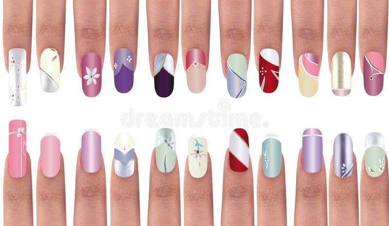 fingernails royaltyfri bild