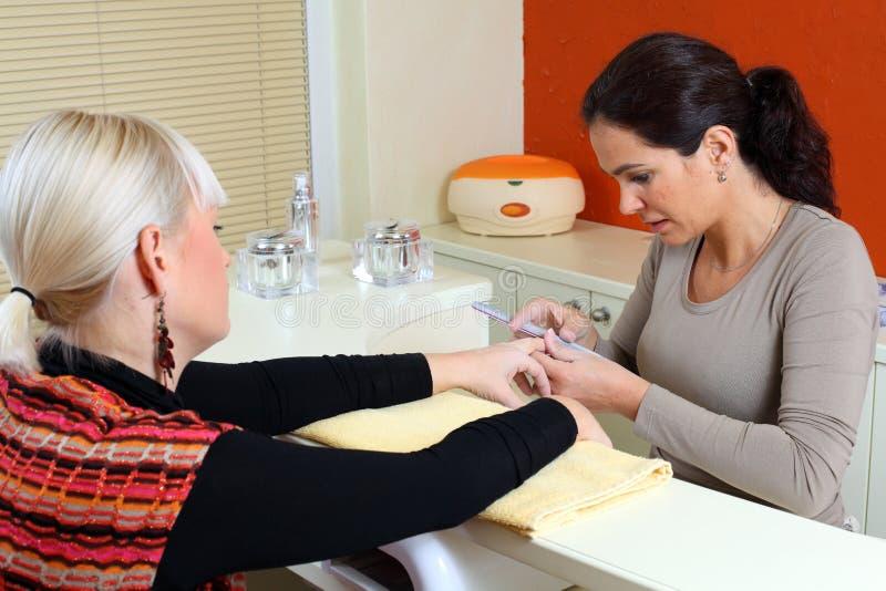 fingernailsmanicure royaltyfria foton