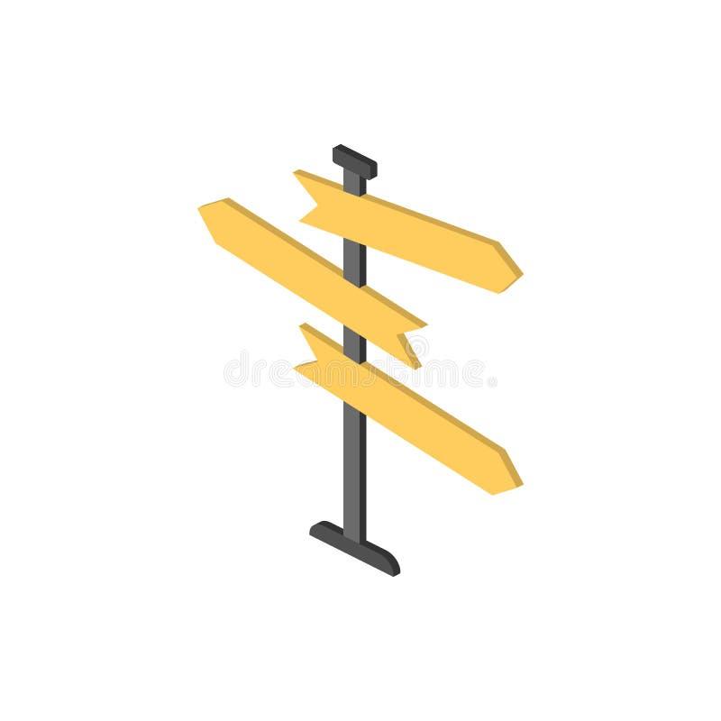 Fingerpost isometrisch pictogram Element van pictogram van kleuren het isometrische verkeersteken Grafisch het ontwerppictogram v royalty-vrije illustratie