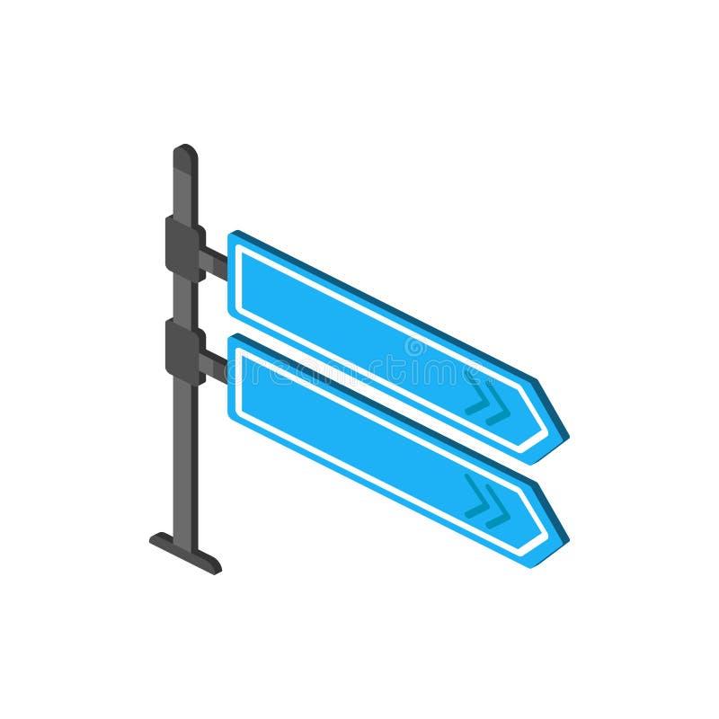 Fingerpost isometrisch pictogram Element van pictogram van kleuren het isometrische verkeersteken Grafisch het ontwerppictogram v vector illustratie