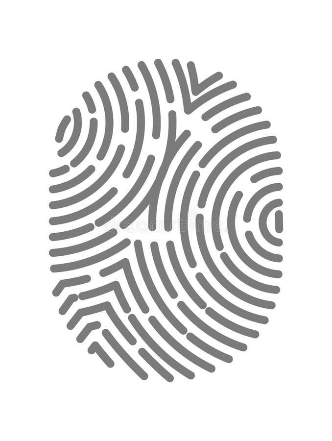 Fingerprint тип с круговой линией знаками изолированными на белой предпосылке бесплатная иллюстрация