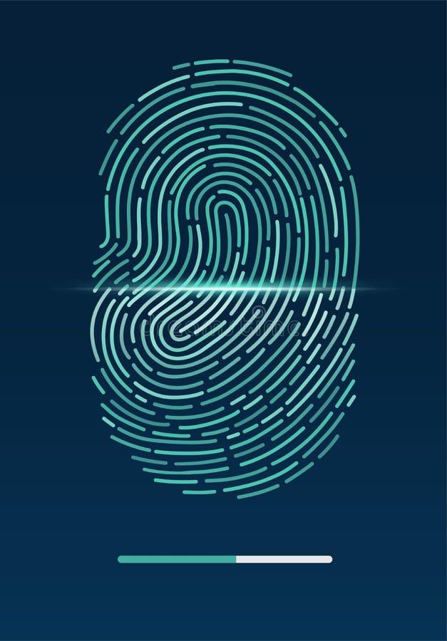 fingerprint ilustração stock