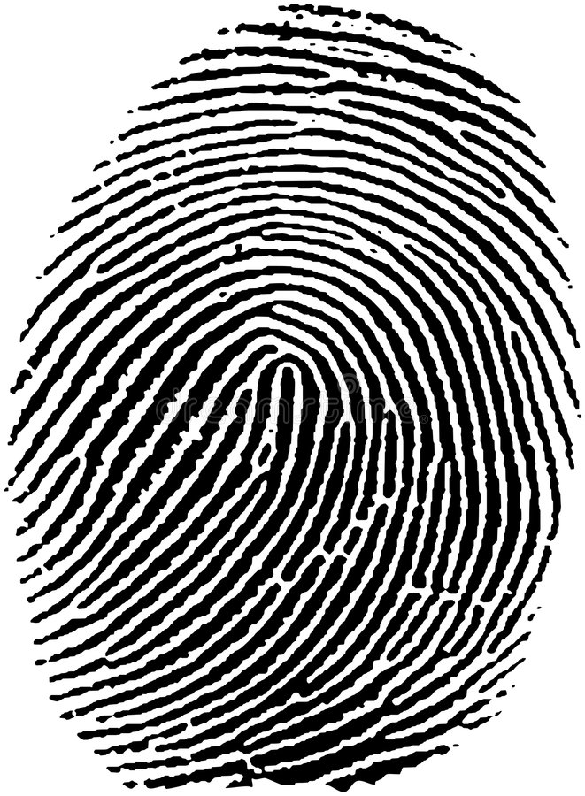 Fingerprint (17) stock illustration