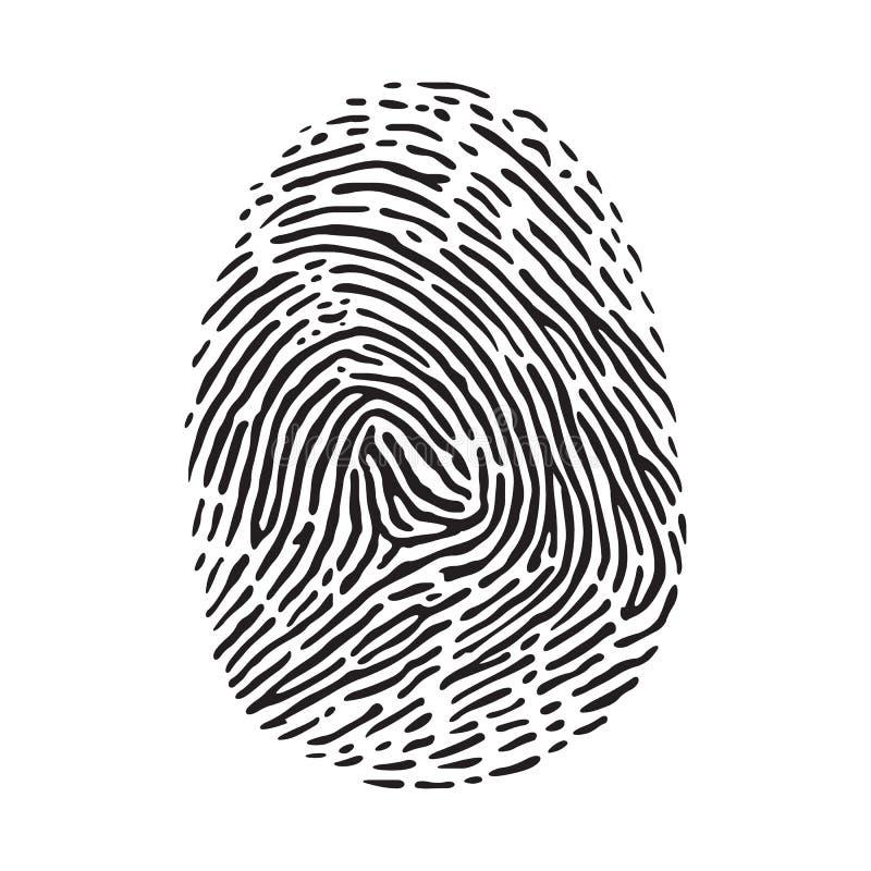 fingerprint illustration de vecteur
