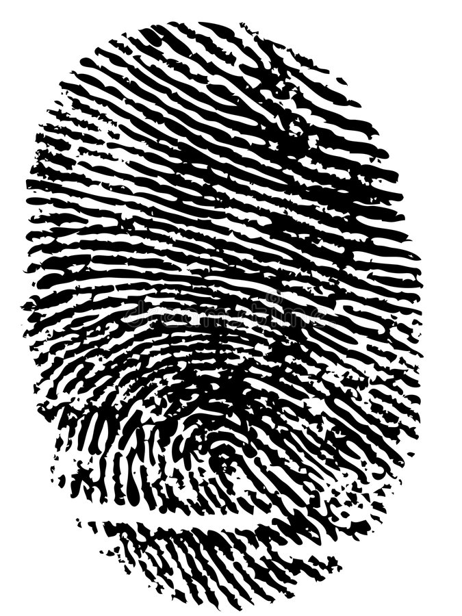 Download Fingerprint stock vector. Illustration of core, isolated - 5888055
