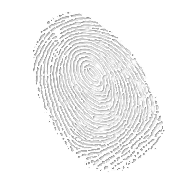 Fingerprint stock illustration