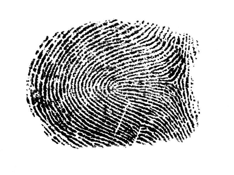 an fingerprint royalty free stock images