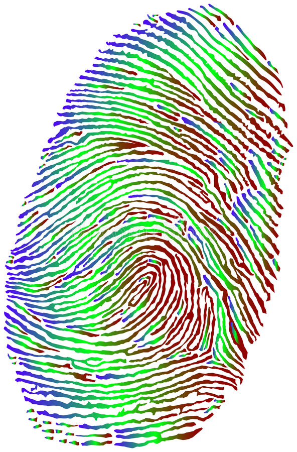 Fingerprint royalty free illustration